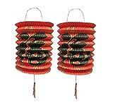 DMtse 15cm de diámetro, 12unidades de 12color rojo año nuevo chino Linternas de papel 12unidades
