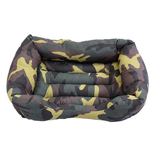 Cisne 2013, S.L. Oferta LIQUIDACION Camas para Perro y Gato Estampado Camuflaje Verde D 75 * 55cm