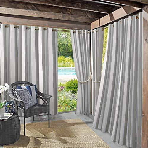 Sun Zero UV-Protectant Vorhang Panel, grau, 137,2x 213,4cm
