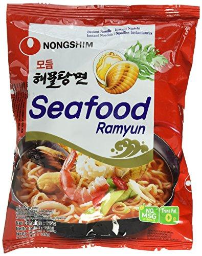 Nong Shim Instantnudeln Seafood Ramyun / Koreanische Seafood Ramen Suppe Modumheamul Tangmyun (schnelle Zubereitung)
