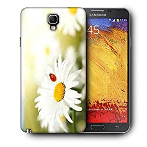 Snoogg Red Beatel In White Flower Printed Protective Phone Back Case Cover For Samsung Galaxy NOTE 3 NEO / Note III