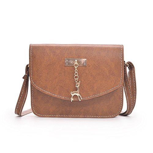 Beikoard borsa a tracolla della borsa delle donne di modo borsa a tracolla delle signore di tote casual(marrone)