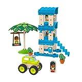 Fisher-Price - La Casa sulla Spiaggia, con Binari e Costruzioni , Giocattolo per Bambini 3+ Anni, GFJ13