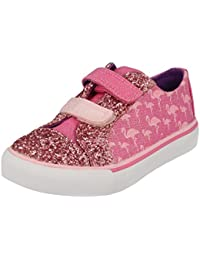 Clarks Girls Pink Canvas Trainers Size Uk 9 Infant Kids' Clothing, Shoes & Accs Girls' Shoes