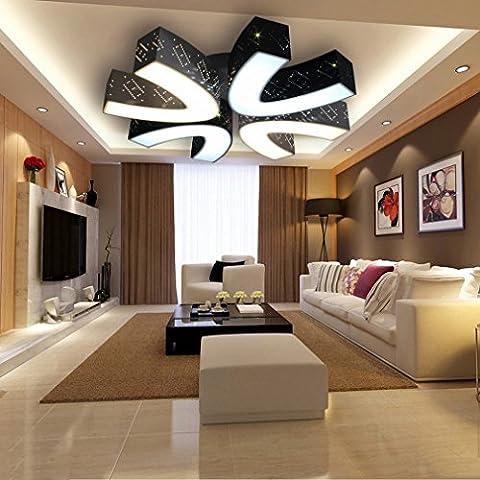 RN Led-Deckenleuchte Moderne Einfache Geformte Eisen-Stehleuchte Schlafzimmer Lampe Kreative Beleuchtung Acryl-Lampen,62cm,Dreifarbiges (Moderne 3 Tier Beleuchtung)