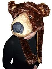 Idea Regalo - Seruna GmbH F75 Cappello Orso Bruno Costume Orso Costume da adulto Orsi Costumi carnevale