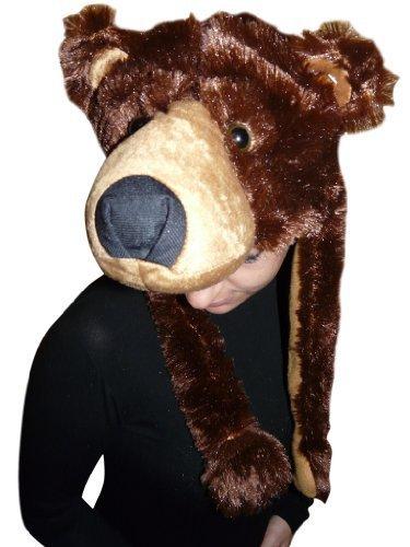 (Mütze Braunbär-Kostüm, F75, Bären-Faschingskostüm, für Fasching Karneval Fasnacht, Karnevals-Kostüme für Männer und Frauen, Faschings-Kostüme, Geburtstags-Geschenk, Weihnachts-Geschenk)