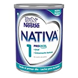 Nestlé NATIVA 1 Leche para lactantes en polvo, fórmula Para bebés, desde el primer día - 800 gr
