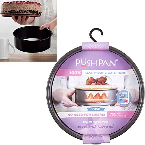 t Silikondichtung, wasserdicht, 5 cm hoch, 25 cm ø: Silikon-Stahl Back Springform Kuchen Ring Tortenring (Gefrorene Platten)