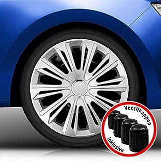 Autoteppich Stylers Aktion Bundle 15 Zoll Radkappen/Radzierblenden 006 Silber (Farbe Silber), passend für Fast alle Fahrzeugtypen (universal)