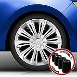 Autoteppich Stylers Aktion Bundle 16 Zoll Radkappen/Radzierblenden 006 Silber (Farbe Silber), passend für Fast alle Fahrzeugtypen (universal)