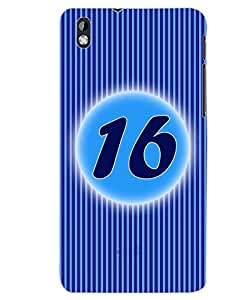 ColourCraft Numerology Number 16 Back Case Cover for HTC DESIRE 816