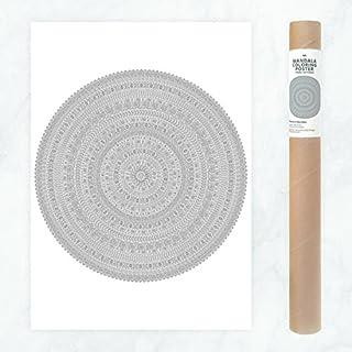Detailliertes Mandala Poster zum Ausmalen für Erwachsene, mit geometrischen Mustern, Aztec Mustern