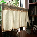 Kitchen Curtains Tende Cucina Country Tenda Doccia Mezza Tenda Finestra Cotone Tende da caffè Tenda Corta per Cucina Mantovana Tenda Camera Tenda Bistrò