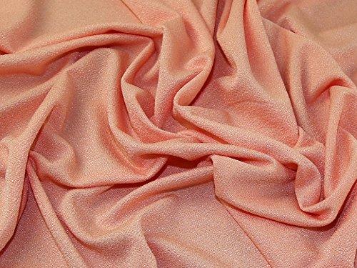 Strukturierte Shimmer Oberfläche Stretch Jersey Knit Kleid Stoff Pfirsich-Meterware -