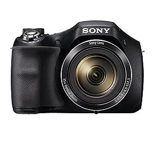 Sony Digitalkamera Einstiegsbridge DSC-H300 (20.1 MP CCD Sensor (effektiv), 25mm Weitwinkel-Objektiv, Optischer Bildstabilisator SteadyShot HD) schwarz