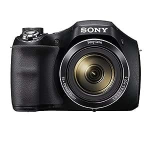Sony DSC-H300 Fotocamera Digitale, Cyber-shot, Sensore Super HAD CCD da 20.1 MP, Obiettivo Sony con Zoom Ottico 35x, Nero