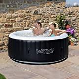 Wave Spas Atlantic Inflatable HotTub, (2-4 Person, Black) Hot Tub, Integrated Heater
