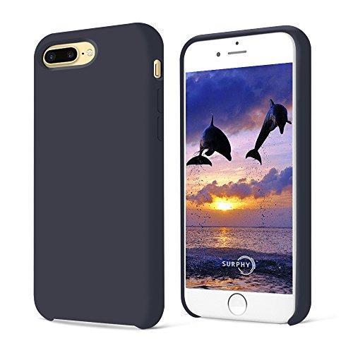 Preisvergleich Produktbild iPhone 7 Plus Hülle, SURPHY Silikon Schutzschale vor Stürzen und Stößen Silikon Handyhülle für iPhone 7 Plus Schutzhülle 5.5 Zoll, Blau