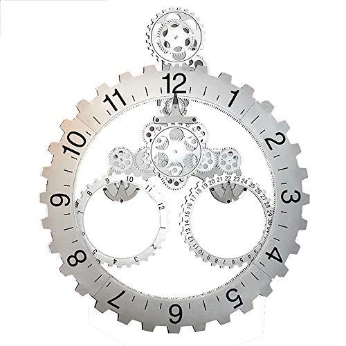 BGGZXX Reloj de Pared del Engranaje Montado en la Pared Creativo Mudo, Sencillo Tipo Hueco Adecuado para Sala Habitación,D50.5cm