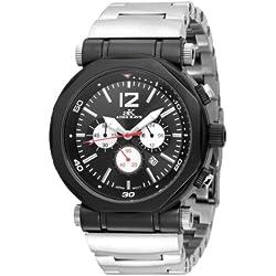 Adee Kaye Herren AK8921-MIPB BLK Kette Sport Collection Chronograph Stainless Steel Black Watch