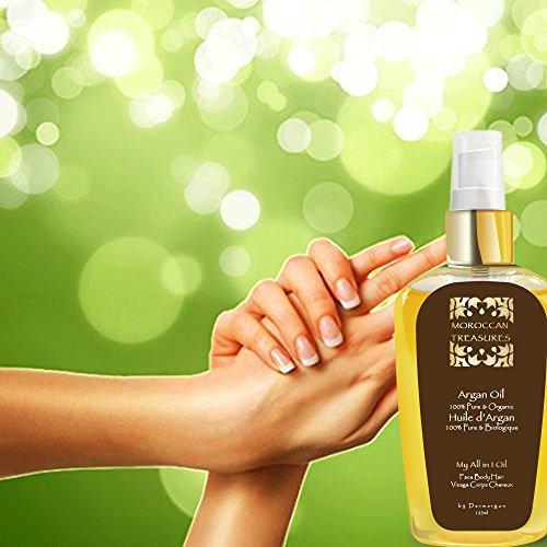100% Reines Arganöl: Gesichtsöl, Haaröl, Körperöl, 125ml -Bio Kaltgepresstes Basisöl, Organisch Zertifiziert. Bio Öl für Haare : Sprühkur / Haarkur, Haarpflege Besser Als Eine Pflegende Haarmaske. Stärkt bei Haarausfall – Öl für Körper:Arganöl Haut Für Trockene Haut.Dehnungsstreifen Öl während der Gewichtsverlust/Anti Cellulite Pflege : Hilfe bei Orangenhaut und Cellulitis.Gegen Schuppenflechte.Öl Für Gesicht:Pflege Mit Vitamin E, Anti-Aging Gesichtsserum, Gegen Hautausschlag. - 4