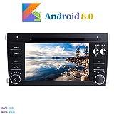 """Android 8.0 Autoradio, Hi-azul 2 Din 7"""" Radio de Coche Navegación GPS De Coche In-Dash 8-Core 64Bit RAM 4G ROM 32G Auto Radio Estereo con 1024 * 600 Pantalla Multitáctil y Reproductor De DVD para PORSCHE Cayenne 2003-2010 Soporte Control del Volante, Bluetooth, WiFi, Mirror-link (Autoradio)"""