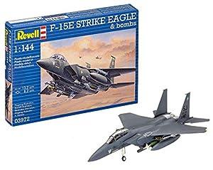 Eagle Revell-F-15E Strike Eagle & Bombs, Kit de Modelo, Escala 1:144 (3972), 13,2 cm (03972)