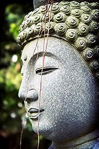 PB-producties - Quadro da giardino - primo piano di Buddha - per esterni - resiste alle intemperie