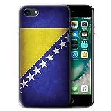 Stuff4 Coque Gel TPU de Coque pour Apple iPhone 7 / Bosnie-Herzégovine Design/Drapeau Collection