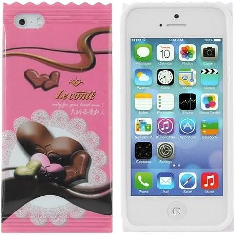 Amor de chocolate cubierta de la caja rosada del diseño TPU trasera dura para el iPhone 5 5S.
