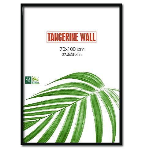 Tangerine Wall Marco Fino Madera auténtica 70x100