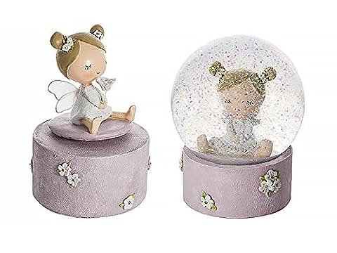 Fairy Music Box and Snow Globe Children's or Baby Girl Birthday Christening or Baby-Shower Gift Set