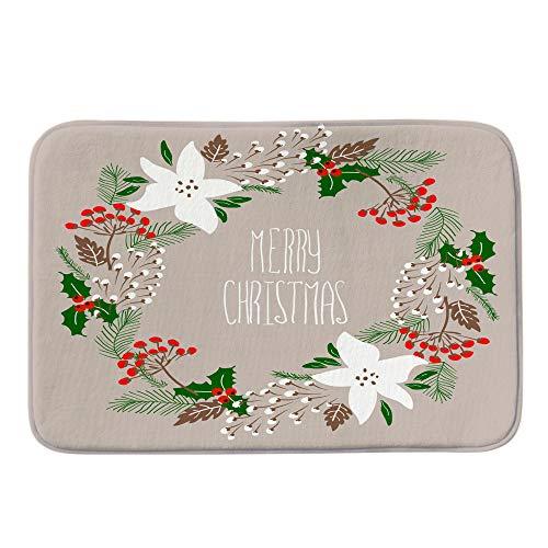 gaddrt Frohe Weihnachten Willkommen Frohe Weihnachten Willkommen Fußmatten Indoor Home Teppiche Decor 40x60CM (B)