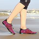 Badeschuhe Damen Herren Wasserschuhe Schwimmschuhe Barfußschuhe Strandschuhe Sport-& Outdoor Fitness Schuhe für Männer Frauen,Violett 37 - 6