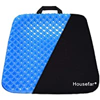 Gel Seat Cushion,Coccyx Cushion,Car Seat Cushion-Ergonomic Breathable Tailbone and Sciatica Relief Back, Honeycomb Designed Coccyx Pain Relief Seat Cushion for Office Chair Home Wheelchair