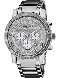 Akribos XXIV Hombre barroco diamante reloj cronógrafo