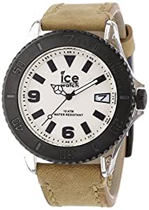 ICE-Watch - Montre Mixte - Quartz Analogique - Ice-Vintage - Sand - Big - Cadran Noir - Bracelet Cuir Beige - VT.SD.B.L.13