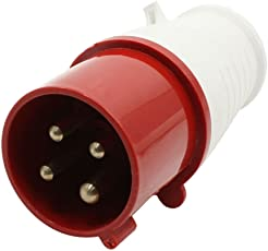 Sibass 16A 4 Pin Plug - IP44