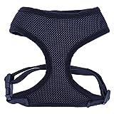 YongYeYaoBEN Imbracatura di Sicurezza per Cani da Compagnia, Imbracatura per Collare di Controllo di Sicurezza di Sicurezza per Cani con Cucitura in Tessuto di Maglia (Color : Black, Size : B)