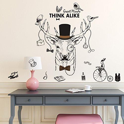 k Wand Aufkleber Pvc-Material Diy Art Wall Decals Für Wohnzimmer Schlafzimmer Kinderzimmer Dekoration Wandbilder (Kreative Halloween-thema-namen)