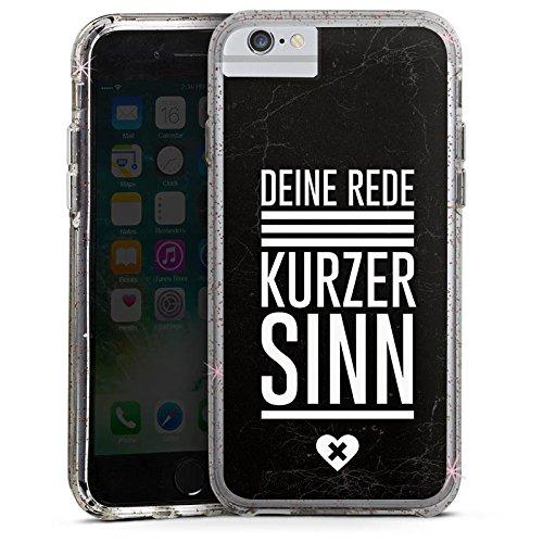 Apple iPhone 8 Bumper Hülle Bumper Case Glitzer Hülle Vie Leben Life Bumper Case Glitzer rose gold