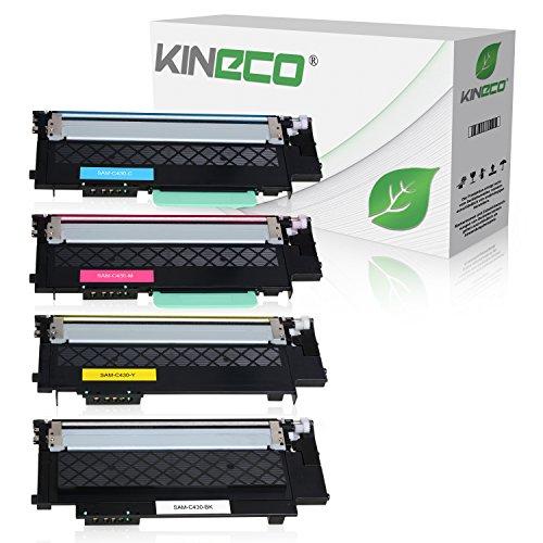 Preisvergleich Produktbild 4 Toner für Samsung Xpress C430 C430W C480 C480fw C480w Farblaserdrucker - CLT-P404C/ELS - Schwarz 1500 Seiten, Color je 1000 Seiten