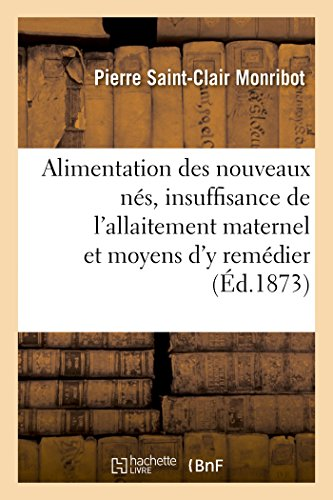 Alimentation des Nouveaux Nes, Insuffisance de l'Allaitement Maternel et Moyens d'Y Remedier por Saint-Clair Monribot
