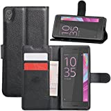 Supremery Case Xperia XA protection Étui [BLACK] pour Sony Xperia XA Flip Cover