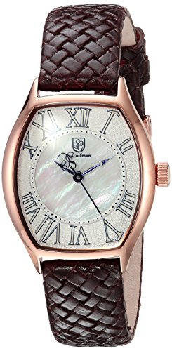 S.COIFMAN WOMEN'S BROWN LEATHER BAND STEEL CASE QUARTZ WHITE DIAL WATCH SC0386