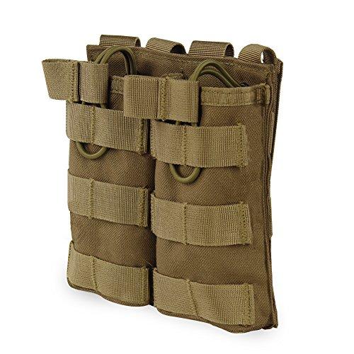Airsoft Molle Weste Taktische Tasche Open Top Mag Beutel Triple/Doppel Zeitschriften Halter für M4 AR M4 HK416 Zeitschriften (Airsoft-zeitschriften-halter)