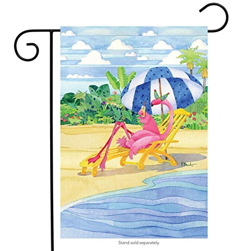 CHKWYN Flamingo Inn Summer Garden Flag Beach Scene Humor Cocktails for Party Outdoor Home Decor Size: 12.5-inches W X 18-inches H - Monogram Cocktail