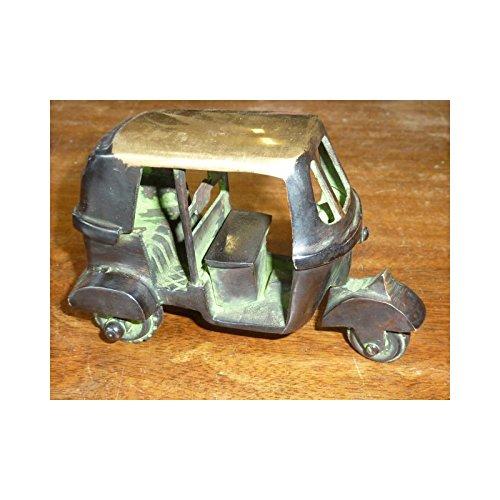 int. d'ailleurs - Auto Rickshaw Vert/doré (Roues articulées) - BRZ017