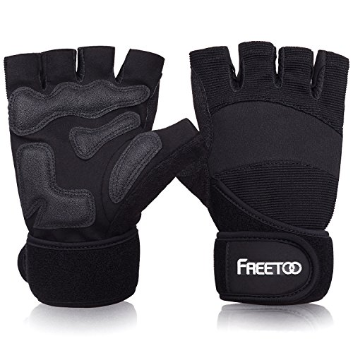 FREETOO Fitness Handschuhe Trainingshandschuhe für Kraftsport Gewichtheben und Bodybuilding Damen Herren Gym Gloves Handgelenkschutz (XL)